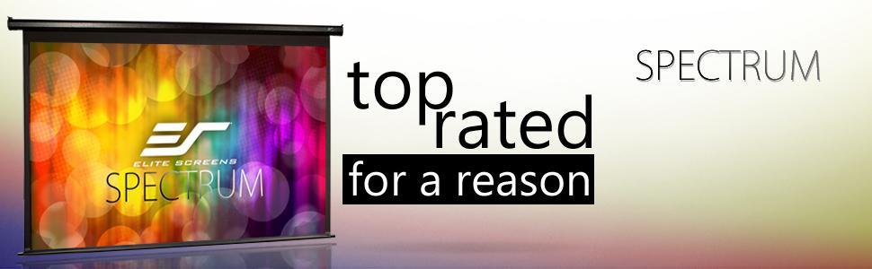 spectrum series, elite screens projector screen, electric screen, motorized projector screen