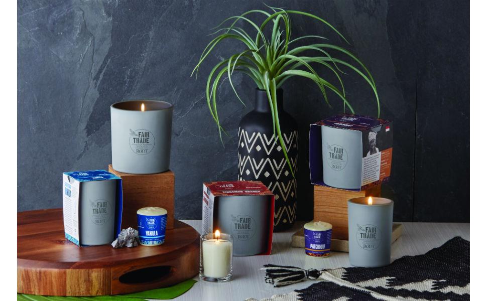 beeswax candles non toxic fair trade vanilla cinnamon patchouli