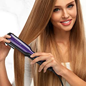 anti static technology reduce frizz control hair straightener flat iron