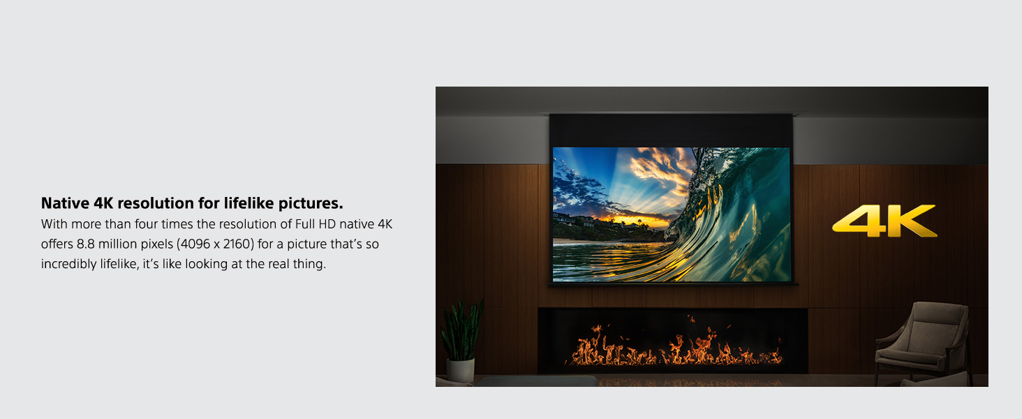 Amazon.com: Sony vplvw385es 4 K Hdr Home Theater proyector ...