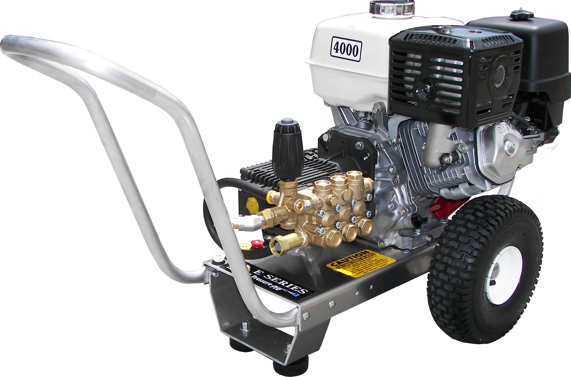 Pressure Pro E4040HG Heavy Duty Professional 4,000 PSI 4 0 GPM Honda Gas  Powered Pressure Washer With General Pump