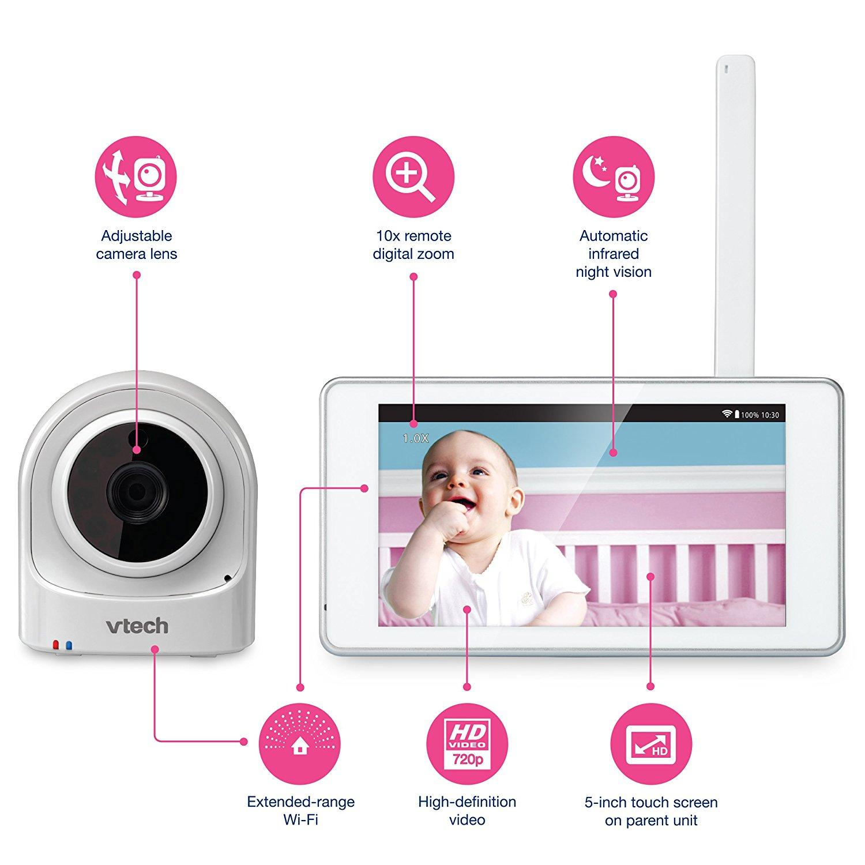 Amazon.com : VTech VM981 Wireless WiFi Video Baby Monitor
