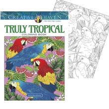tropical fish parrots coloring