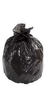 "40 x 46"" 40 Gallon Black Industrial Trash Liners"