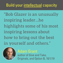 Bob Glazer highlights some of his most inspiring lessons about how to bring out the best in yourself