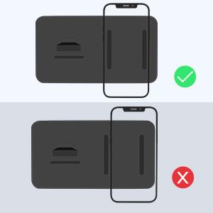 Cargador Inalámbrico Rápido Cargador Doméstico 2 en 1 para iPhone 12