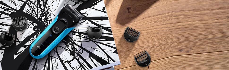 braun 3010bt rasoir lectrique rechargeable pour homme avec tondeuse barbe de pr cision series. Black Bedroom Furniture Sets. Home Design Ideas