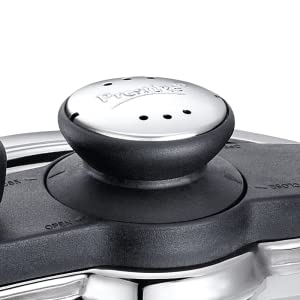 Prestige Clip On Stainless Steel Handi Pressure Cooker with Glass Lid, 5 Litres SPN-FOR1
