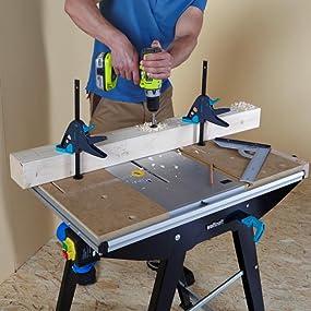 wolfcraft 6906000 etabli pour machines master cut 1500 bricolage. Black Bedroom Furniture Sets. Home Design Ideas