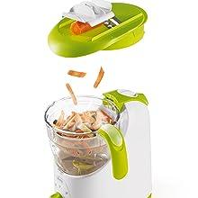 Chicco Easy Meal - Robot de cocina que ralla, cocina al vapor ...