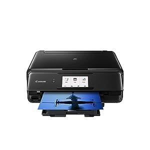 Impresora Multifuncional Canon PIXMA TS8151 Negra Wifi de inyección de tinta