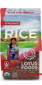 Lotus Foods Gourmet Organic Red Rice