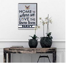 Love Navy Canvas Home Wall Sign