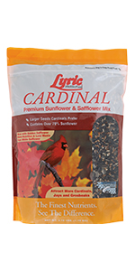 lyric, bird seed, bird food, lyric bird seed, wild bird seed, cardinal, cardinal bird food