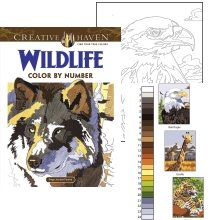 wildlife coloring wolf eagle