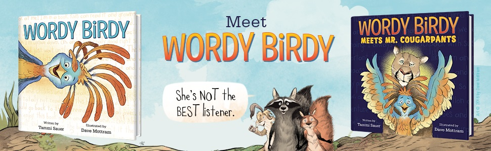 Wordy Birdy meets mr. cougarpants, picture book, picturebook,