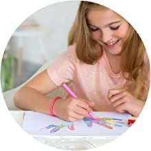 Connector Pen, Colour Marker, Safe, Kids, Non-Toxic, Washable, Easy Cleaning, Water, Food Dye