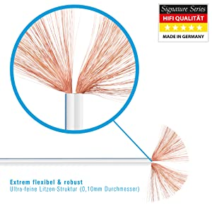 PureLink SP021-025 Cable de altavoz 2 x 4.0 mm² (99.9% OFC cable ...