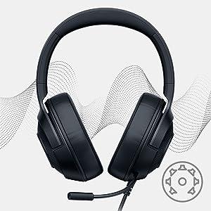 Razer Kraken X, Ακουστικό παιχνιδιού, 7.1 Εικονικός ήχος Surround, Esports, Ενσύρματο ακουστικό