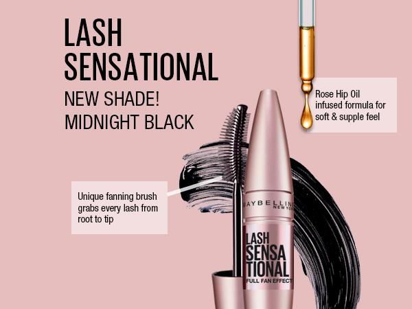 lash sensational new shade! midnight black