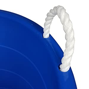 rope handle easy transport heavy duty light weight plastic