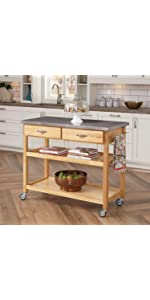 Amazon.com - The Orleans Kitchen Island by Home Styles - Kitchen Islands & Carts