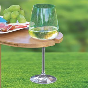 Tovolo outdoor wine holder bamboo table - Amazon porta vino ...