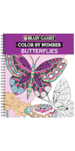 color by numbers for adults book grown up teen coloring book brain games butterfly