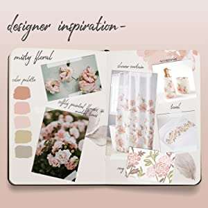 SKL Home Misty Floral Blush Pink Bathroom