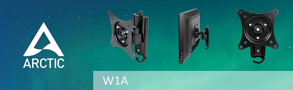 Arctic W1a Wandhalterung Für Monitore Und Tvs Mit Schnellinstallationsystem Bürobedarf Schreibwaren