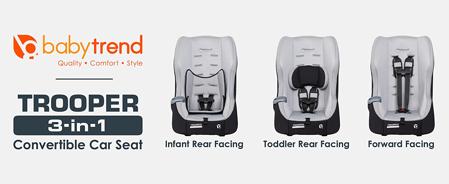 Baby Trend convertible car seat 3 uses in 1
