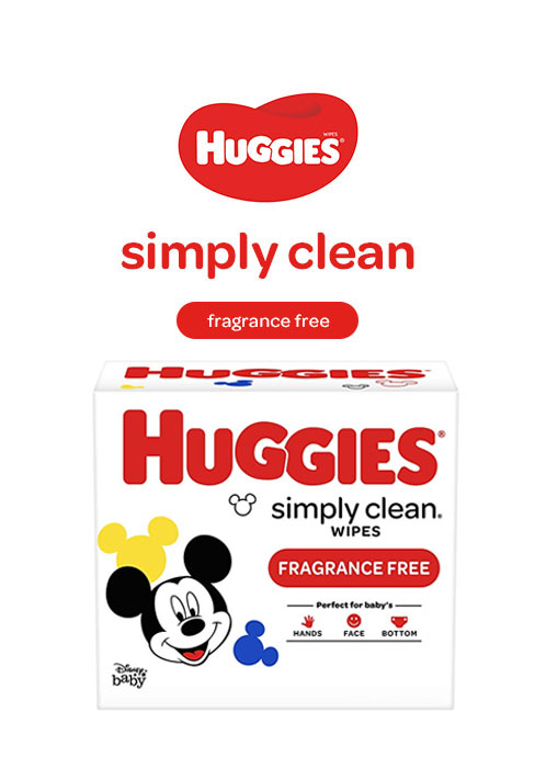 Simply Clean Unscented Fragrance Free Baby Wipes