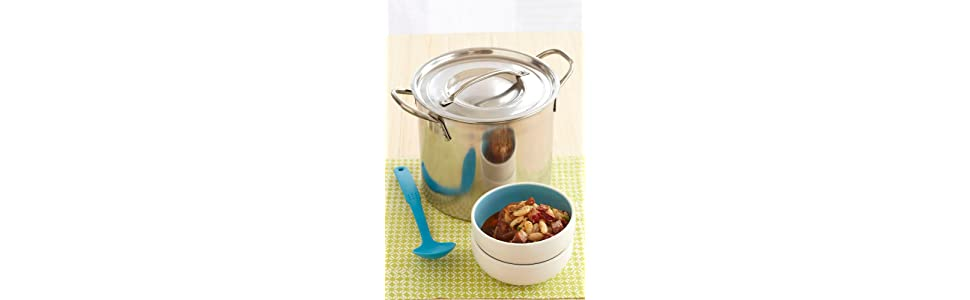 IMUSA USA L300-40317 Stainless Steel Stock Pot 20QT Ideal for Stews Lobster Soup