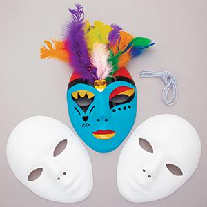White Plastic Masks