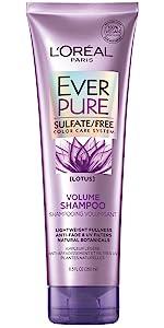Ever, sulfate free, color treated hair, shampoo, loreal
