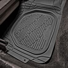 FH Group F11323BLACK Floor Mat 1 Pack Supreme Rubber Trimmable for Cars, SUVs, and Trucks