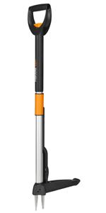Fiskars Extractor de maleza, Longitud: 90 cm, Negro/Blanco ...