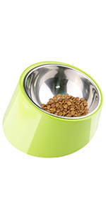 Mess Free 15 Degree Slanted Bowl for Dogs and Cats