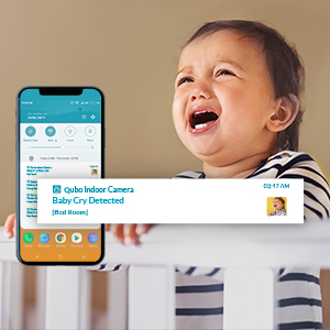 A.I.,Baby crying;Person Detection,Motion Detection Face recognition