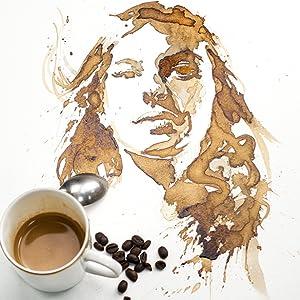 CAFFEINATED PORTRAITS: USING COFFEE AS PAINT