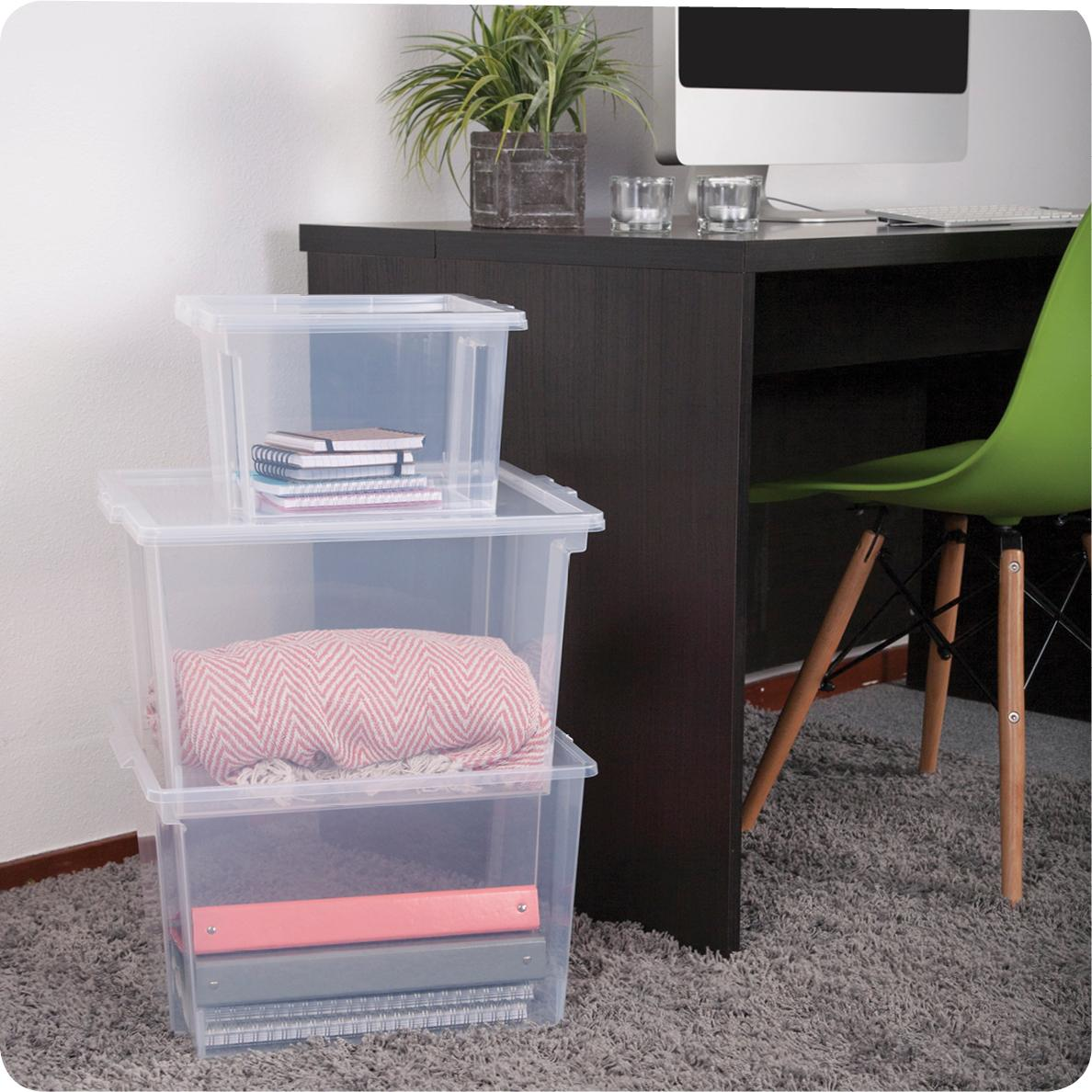 iris 130623 6er set aufbewahrungsboxen kisten mit deckel stapelboxen 39 useful storage box. Black Bedroom Furniture Sets. Home Design Ideas