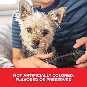 No artificial colors, flavors, or preservatives