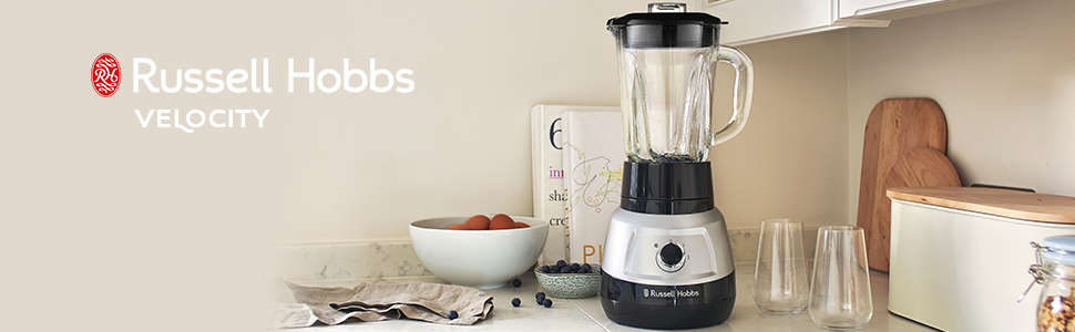 Russell Hobbs Velocity Blender-Soup, Milkshake & Smoothie Maker with Removable Blades - 25710