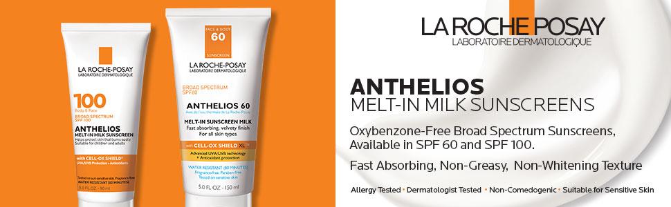 anthelios; melt in milk; spf 60