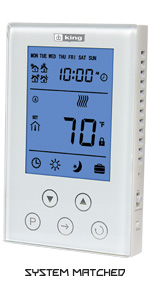 cleartouch touch screen electronic sensing line voltage 7-day  programmable thermostat baseboard wall