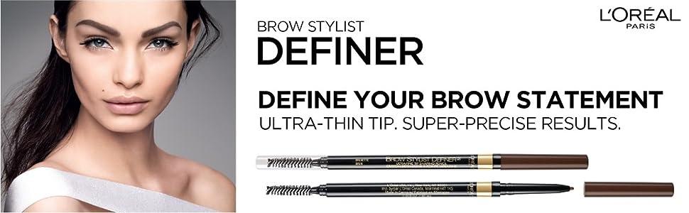 loreal brow stylist definer, anastasia brow wiz, brow makeup, brow pencil, eyebrow, wunderbrow