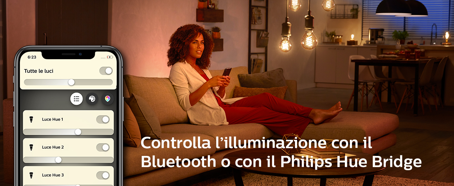 Hue, Philips Hue, Bluetooth, smarthome, luce connessa,