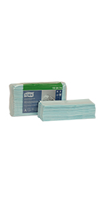 Tork 192479 Low-Lint Cleaning Cloth, Top-Pak, 1-Ply, 13.5 Width x 16.4 Length, Turquoise