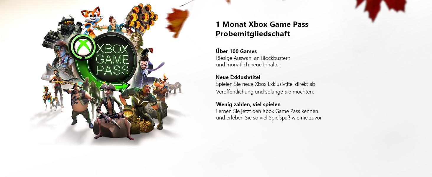 1 Monat Xbox Game Pass Probemitgliedschaft