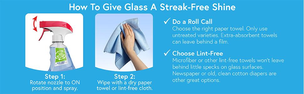 How to give glass a streak free shine